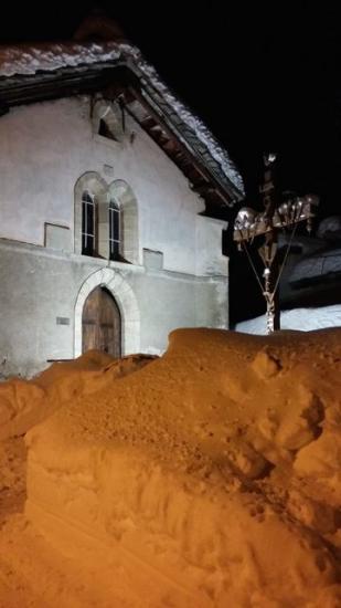 la chapelle du Villaron le soir